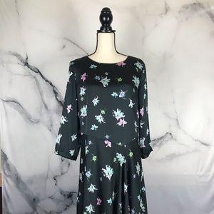 Banana Republic drop waist 3/4 sleeve dress